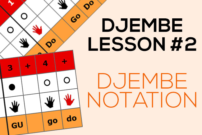 Djembe lesson - Notation