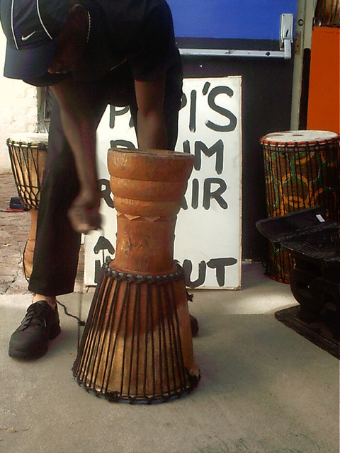 Djembe turned upside down