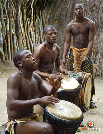 A djembe ensemble