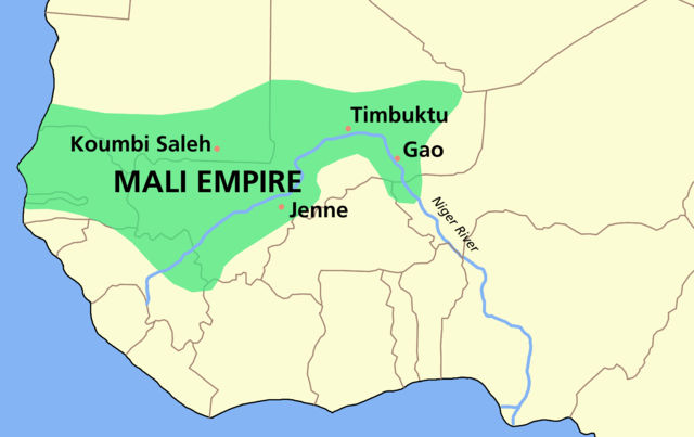 A map of the Mali Empire
