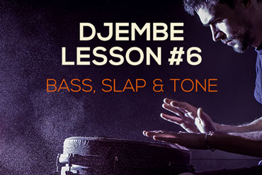 Djembe lesson - bass, tone and slap