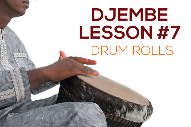 Djembe lesson - the drum roll