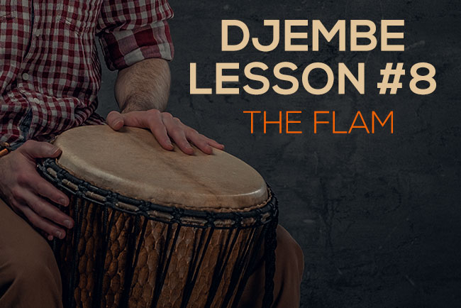 Djembe lesson - the flam