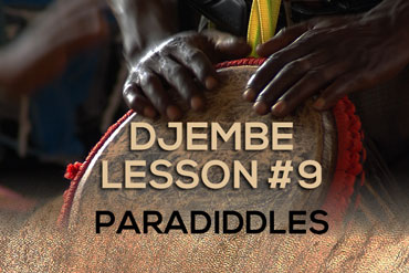 Djembe lesson - paradiddles