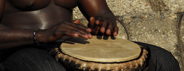 How to play djembe - Lesson 5 - Slap