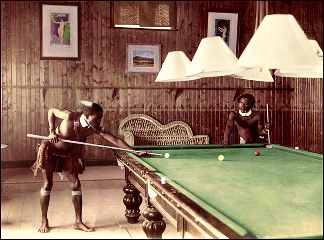 The Zulu Pool Players, 1903