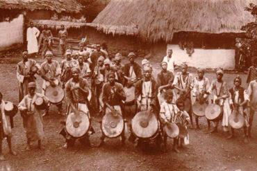 African drummers in Sierra Leone