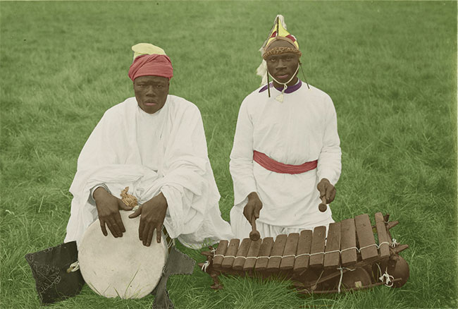 susu drummers with djembe and balaphone