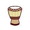 Small djembe icon wood