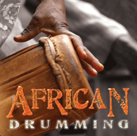 African drumming cover logo