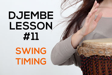Djembe lesson - swing timing