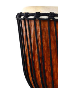 Close up of a djembe